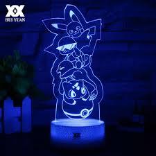 New Pokemon 3D Đèn Pikachu/Riolu Phim Hoạt Hình Night Light LED Mát Mẻ Đầy  Màu Sắc Bàn Trang Trí Trang Đèn Tặng Trẻ Đèn Phòng Ngủ|night light|cartoon  night lightnight light led -