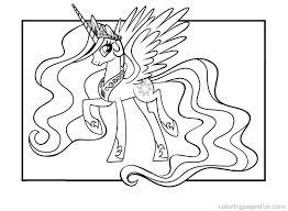 My Little Pony Coloring Pages Princess Celestia Printable