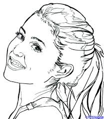 Small Picture ariana grande coloring pages Just Colorings