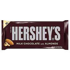 hershey almond candy bars. Exellent Almond Hersheyu0027s Milk Chocolate With Almonds XL Candy Bar 425 Oz For Fresh  Candy And Great Inside Hershey Almond Bars