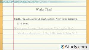 How Do You Do A Works Cited Page How To Make A Works Cited Page