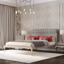 upholstered bed grey. Classic Grey Roll Top Button Upholstered Bed