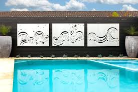 fish outdoor wall art laser cut outdoor wall art fish wave feature panels in a marine fish outdoor wall art