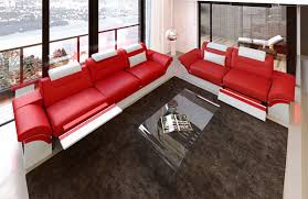 red white sofa. Perfect Sofa Sectional Sofa 231 Chicago LED Redwhite With Red White R