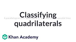 Quadrilateral Flow Chart Blank Classifying Quadrilaterals Video Shapes Khan Academy