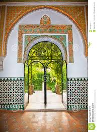 Decorations In Spain Mudejar Decorations In The Alcazars Of Seville Spain Stock Image