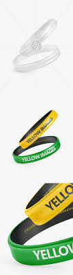 Layered psd through smart object insertion license: 36 Paper Wristband Mockup Yellowimages