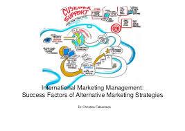 success factors of innovative marketing strategies international marketing management success factors of alternative marketing strategies