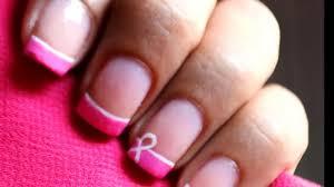 Breast Cancer Nails Art Designs -- Easy Awareness Ribbon Nail ...