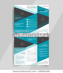 Tri Fold Brochure Layout Business Trifold Brochure Layout Design Vector Stock Vector Royalty