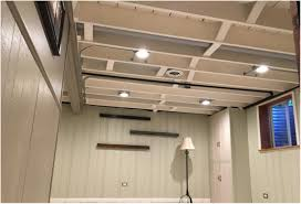 painted basement ceiling. Finished Painted Basement Ceiling With Exposed Duct Work B