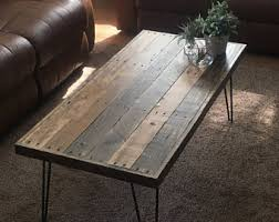 Reclaimed Wood Coffee Table, Pallet Coffee Table, Farmhouse, Rustic,  Mid Century