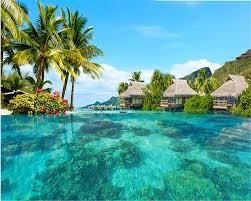 Beibehang Behang Grote Hd Ruimte Extension Malediven Zee Achtergrond