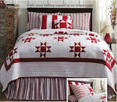 41 best Ohio star quilts images on Pinterest | Quilt patterns ... & Carolina Patchwork Quilt Red White Ohio Star Pattern King Queen or Twin |  eBay Adamdwight.com