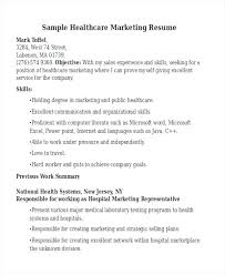 Sample Healthcare Marketing Resume Marketing Resume Blaisewashere Com