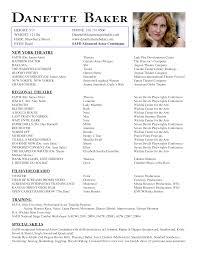 Sample Acting Resume Template Radiodignidadorg