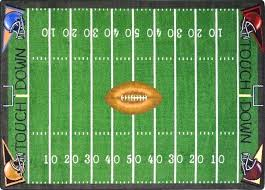 football field rug for 7 8 x 9 prepare area ohio state licensed football field runner rug