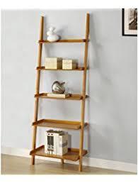 Mintra Oak Finish 5-Tier Ladder Book Shelf