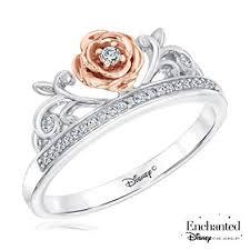 disney enchanted fine jewelry diamond belle princess ring 1 10ctw size 5 5