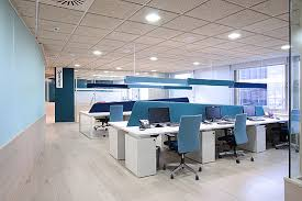 Inspiration: Offices Accented In Blue - 2  Office Snapshots