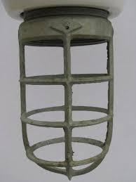 industrial cage lighting. Old Enamel Fixture Cage Light, Huge Vintage Industrial Lighting Lamp
