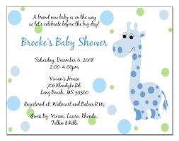 baby shower invitation wording for gifts