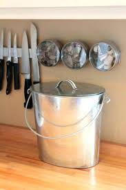countertop compost easy pieces kitchen compost pails galvanized buckets with regard to great kitchen oggi countertop