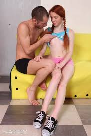Teen Shaved Redhead Lisa with Pigtails Image Gallery 77645