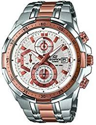 casio watches shop amazon uk casio edifice men s quartz watch white dial analogue display and silver stainless steel bracelet efr 539sg