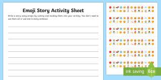 Ks2 Emoji Story Writing Worksheet Worksheet