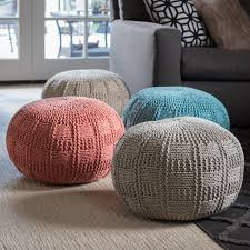 round fabric ottoman. Perfect Ottoman Shop Christopher Knight Home Yuny Round Fabric Ottoman Pouf  On Sale  Free Shipping Today Overstockcom 14741699 In 6