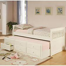 white twin storage bed. Coaster Solid Wood White La Salle Twin Captain\u0027s Bed With Trundle And Storage Drawers Slatted Ends I