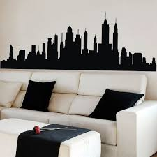 playroom wall decal new york city nyc skyline cityscape wall stickers for kids rooms wall art