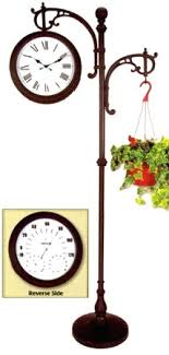 outdoor clock on stand home design ideas plant garden pedestal outdoor clock