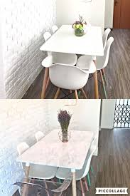 furniture contact paper. Simple Dining Table DIY Makeover Using Marble Contact Paper. Furniture Paper E