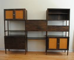 mid century modern walnut ash bookshelf wall unit bookcase plans bunch ideas furniture home for living