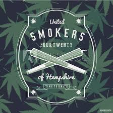 Fotografie Obraz Ganja Marijuana Weed Vector Badge Design Print