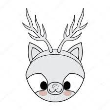 Stile Animale Di Kawaii Con Disegno Dellicona Di Natale Tema