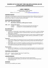 Resume Format For Working Students Fresh Fair Part Time Work