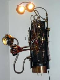 steampunk lighting. Steampunk Light Fixtures Mechanical Arm Lighting Unit How To Make
