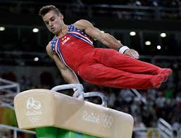 united states sam mikulak performs on the pommel