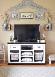 easy farmhouse style tv stand makeover little vintage nest for cool farmhouse entertainment console