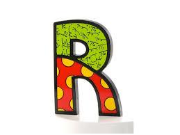 cool letter r britto tall wall decor letter r artreco