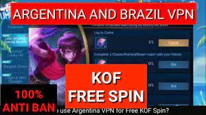 Mobile Legend Vpn|Free KOF Spin|Argentina vpn|Brazil Vpn|ML vpn