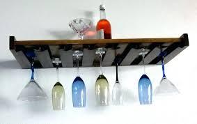 wine glass rack shelf diy rustic floating