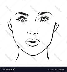 Chart Makeup Woman Portrait Face Chart Makeup Template