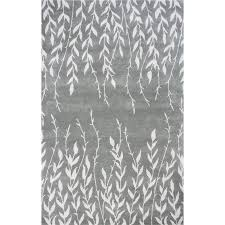 kas bob mackie home 9 x 13 hand tufted wool rug in silver