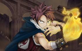 fairy tail natsu dragneel anime guy fire