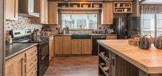 Palm Harbor Home Full Kitchen with Mill Antique Wood