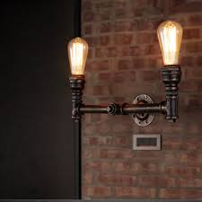 steampunk lighting. 2heads water pipe steampunk vintage wall lights for dining room bar home decoration american industrial loft lighting i